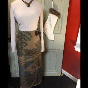 Ralph Lauren Hunt Club print skirt